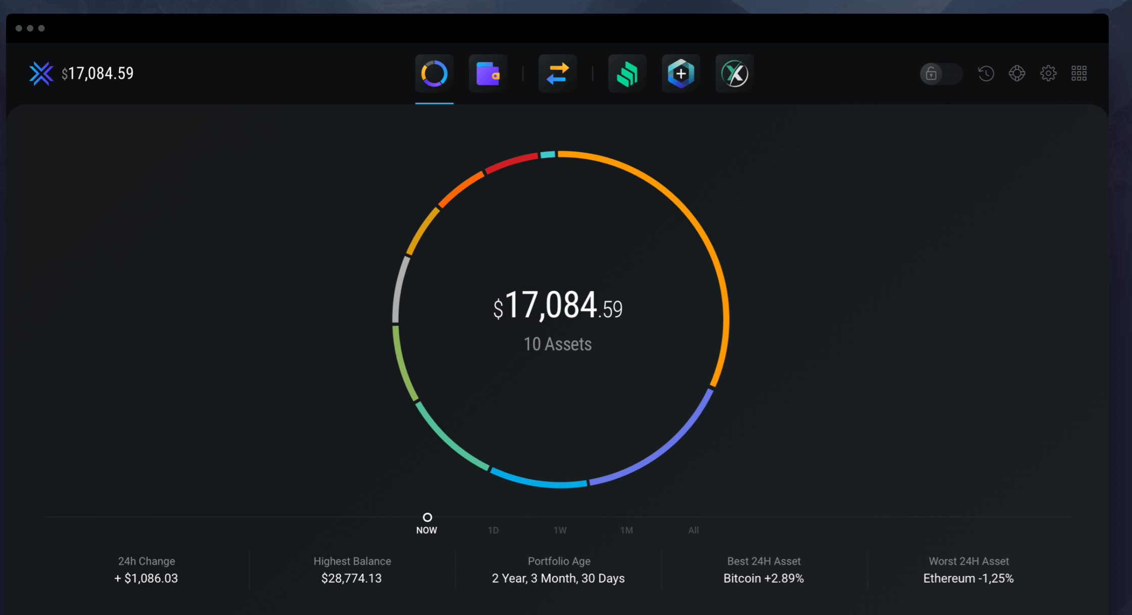 Exodus software wallet interface